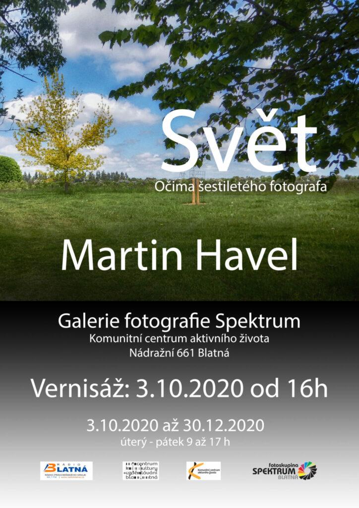 Plakát: Výstava Svět - Očima šestiletého fotografa; Martin Havel
